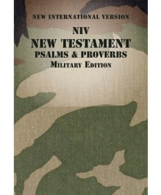 NIV New Testament with Psalms and Proverbs - Military Edition