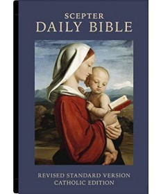 Daily Bible RSVCE Burgundy Simulated Leather (Our Travel Bible)