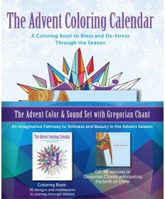 Advent Coloring Calendar: Advent Color and Sound Set with Gregorian Chant