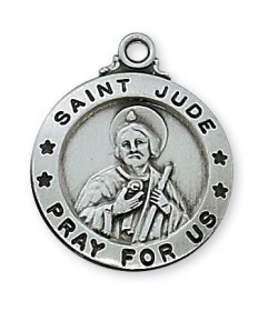 """Pewter St Jude Medal on 20"""" Chain"""