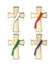 Deacon Liturgical Colors Pin Set