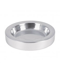 """Bread Plate Insert in Polished Aluminum 4.75"""" Dia."""