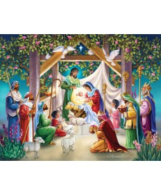 Advent Calendar - Magi at the Manger