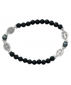 Rosary Stretch Bracelet - St Benedict