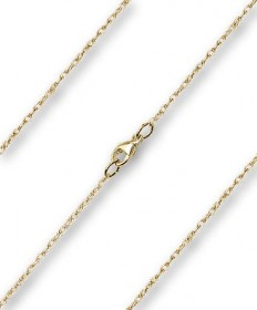 "20"" Chain Gold Filled Light Rope with Clasp (0.90mm)"