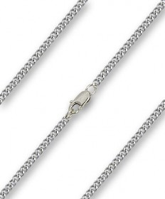 "24"" Chain Light Rhodium with Clasp (2.90mm)"