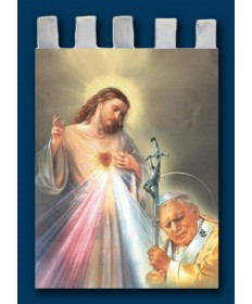 Banner of Saint John Paul II and Divine Mercy