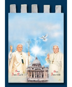 Banner of Saint John Paul II and St John XXIII