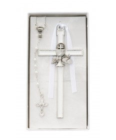First Communion Rosary and Cross Set for Girl