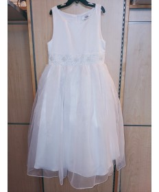 Communion Dress with Beaded Belt (Size 12)