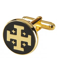 Cuff Links with Jerusalem Cross Design
