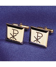 Cuff Links with Chi-Rho Design