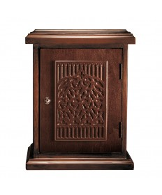 Tabernacle in Wood with Tree of Life Walnut Stain