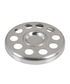 """Bread Plate Insert in Polished Aluminum 6.5"""" Dia."""