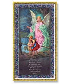 "Guardian Angel Plaque with Prayer 5"" x 9"""