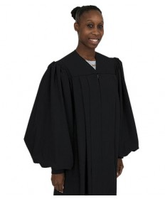 Plymouth Pulpit Womens Robe H-1F in Black by Murphy Robes
