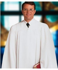 Plymouth Pulpit Robe H-2 in White by Murphy Robes