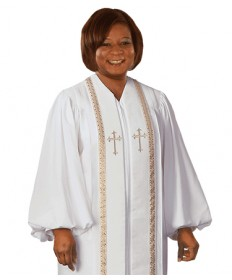 RT Wesley Pulpit Robe H-93 in White by Murphy Robes