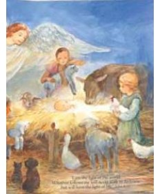 "Christmas Cards ""He came as a Savior, a baby in a Manger"""