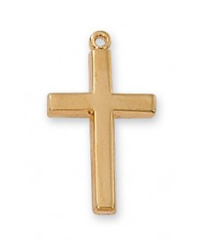 "Gold over Sterling Silver Cross on 18"" Chain"