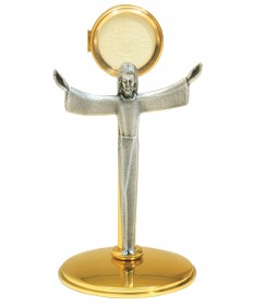 "Chapel Monstrance with Two-Tone Finish 11""H"