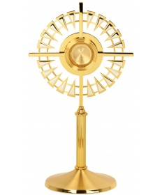 "Monstrance with Two-Tone Finish 24""H"