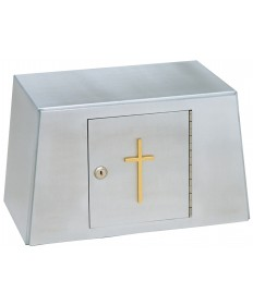 Tabernacle in Aluminum with Gold Cross