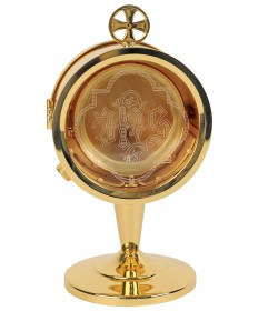 "Chapel Monstrance with GP Finish 7-1/2""H"