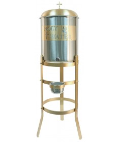 Holy Water Tank with Bronze Painted Stand