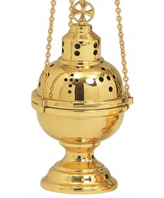 "Censer and Boat by Koley Co. 9""H"