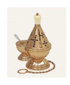 "Censer and Boat by Koley Co. 9""H Gold"