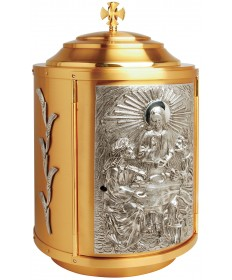 Tabernacle with Silver Accents