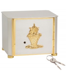 Tabernacle in Satin Silver with Gold Accents