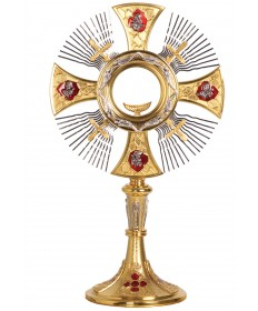 "Monstrance with Two-Tone Finish 18""H"
