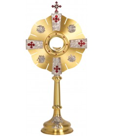 "Monstrance with Two-Tone Finish 28""H"