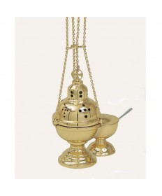 "Censer and Boat by Koley Co. 8-5/8""H"