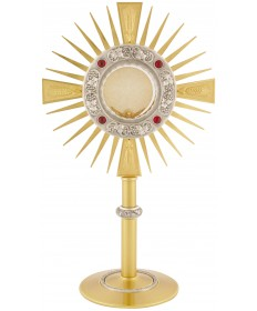 "Monstrance with Two-Tone Finish 15-3/4""H"