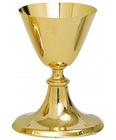 "Chalice and Paten - Gold Plate 6""H"