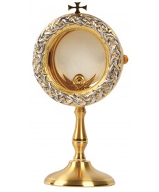"Chapel Monstrance with Two-Tone Finish 9""H"