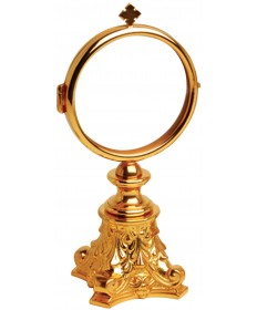 "Chapel Monstrance with GP Finish 6-3/4""H"