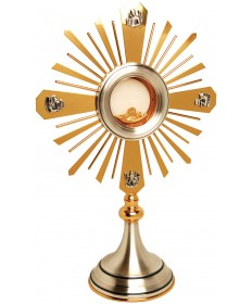 "Monstrance with Two-Tone Finish 18-1/2""H"