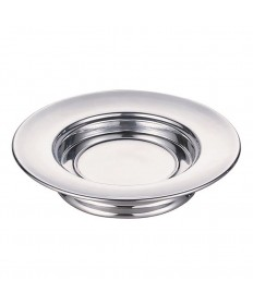 """Communion Stacking Bread Plate in Polished Aluminum 10.25"""" Dia."""