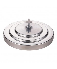 """Communion Tray Cover in Polished Aluminum 11"""" Dia."""