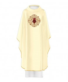 Chasuble by Haftina Atelier with Embroidered SHJ