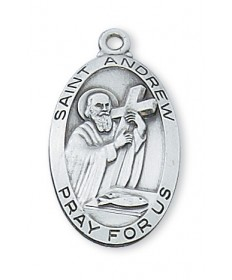 Saint Andrew Medal - Sterling Silver