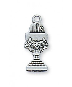 """Sterling Silver Chalice Pendant on 16"""" Chain"""