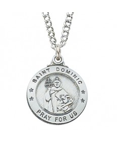 Saint Dominic Medal - Sterling Silver