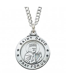 Saint David Medal - Sterling Silver
