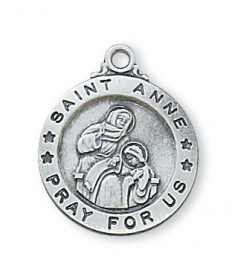Saint Anne Medal - Sterling Silver