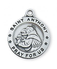 Saint Anthony Medal - Sterling Silver